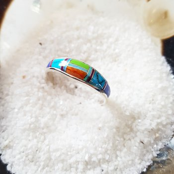 Multicolored Tapered Ring