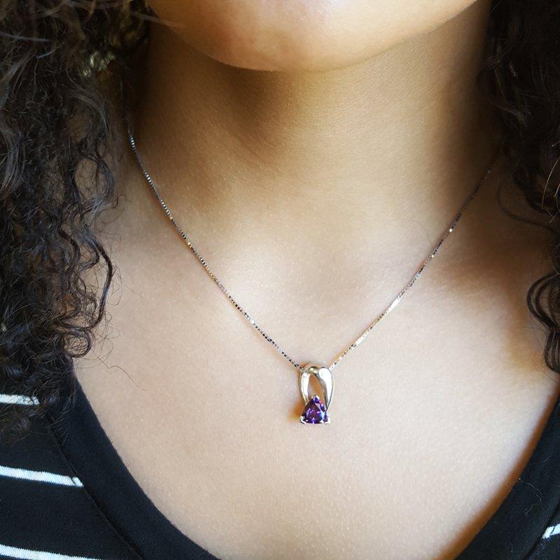Arizona Amethyst™ Gold Jewelry Archway Pendant