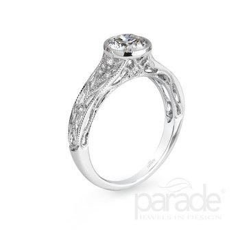 """Hera"" Bezel Engagement Ring"