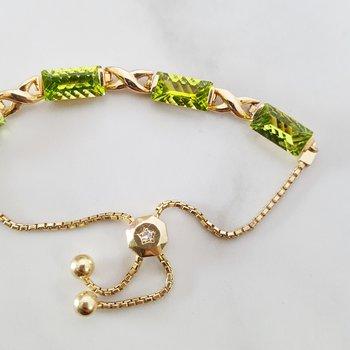 Peridot Bolo Bracelet