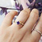 Arizona Amethyst™ Gold Jewelry Princess Cut Amethyst Ring
