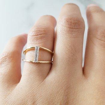 Vertical Diamond Ring