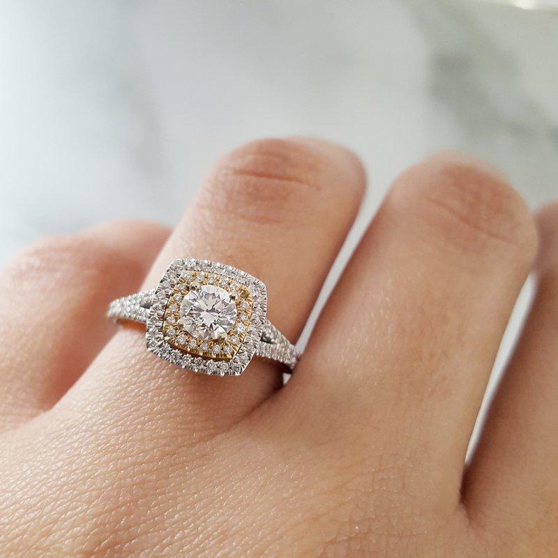 Sami Fine Jewelry Double Halo Ring