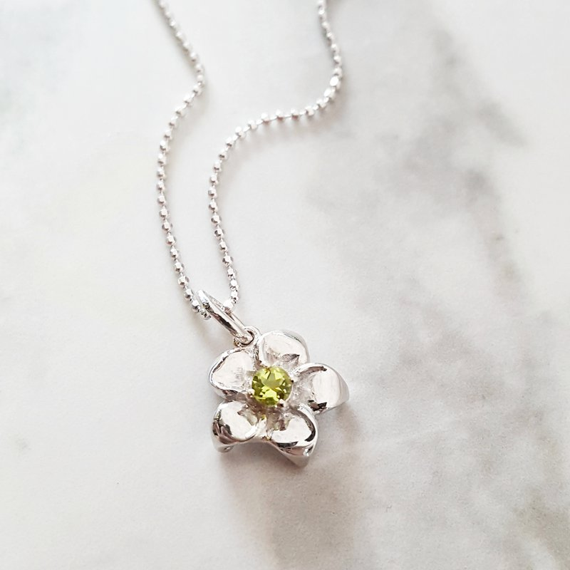 Arizona Peridot Silver Jewelry Arizona Peridot Flower Pendant