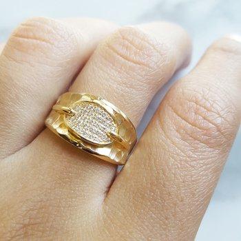 Hammered Diamond Ring