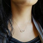 Sami Fine Jewelry Offset Loop Diamond Pendant