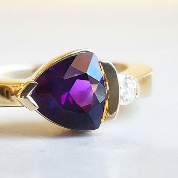 Half Bezel Trillion Ring