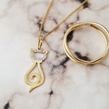 Diamond Cat Necklace