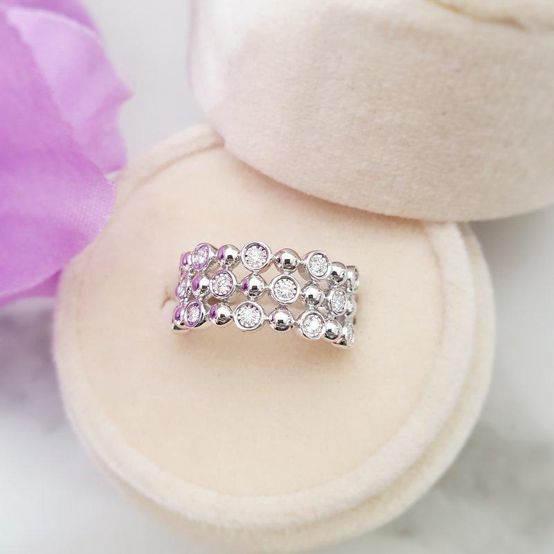 Sami Fine Jewelry 3 Row Bubble Ring