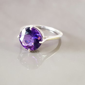 Scroll Solitaire Ring