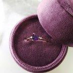 Arizona Amethyst™ Gold Jewelry Petite Trillion Amethyst Ring