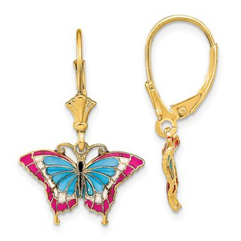 Butterfly Enamel Earrings