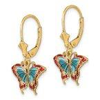 Sami Fine Jewelry Butterfly Enamel Earrings