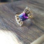 Arizona Amethyst™ Gold Jewelry Fanfare Amethyst Ring