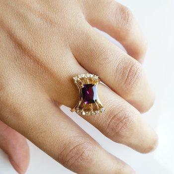 Fanfare Amethyst Ring