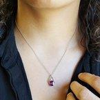 Arizona Anthill Garnet Gold Jewelry Radiant Pendant Slide