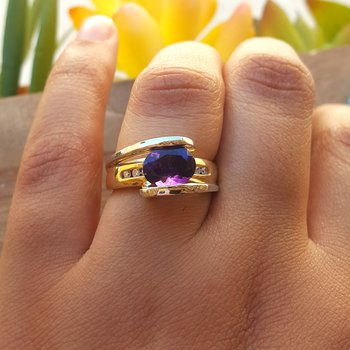 Two Tone Oval Ring