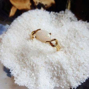 Opal Twist Ring