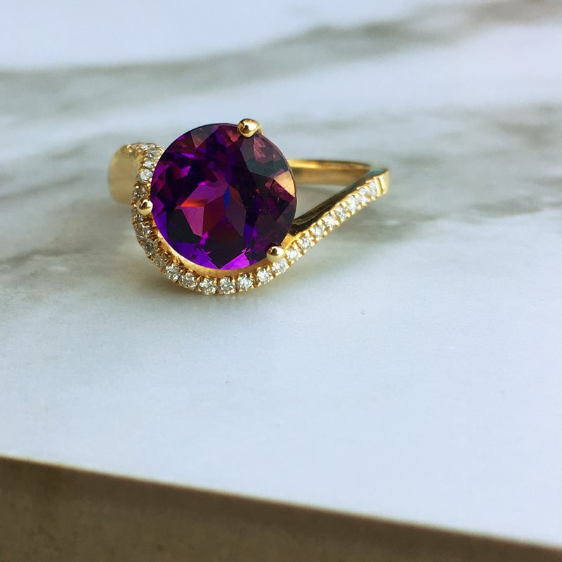 Arizona Amethyst™ Gold Jewelry Amethyst Wave Ring