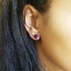 Arizona Amethyst™ Gold Jewelry Essential 3CT Oval Studs
