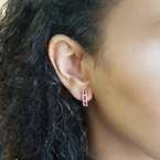 Sami Fine Jewelry Ruby Hoop Earrings