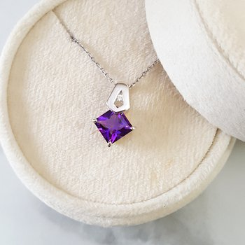 Arizona Amethyst Princess Cut Pendant