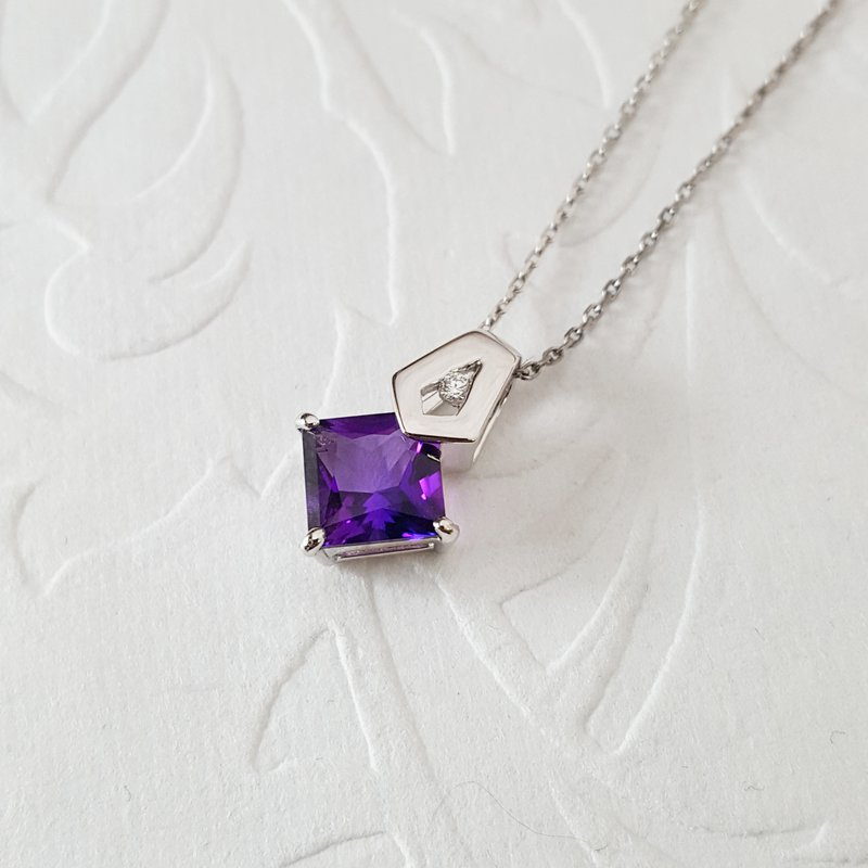 Arizona Amethyst™ Gold Jewelry Arizona Amethyst Princess Cut Pendant