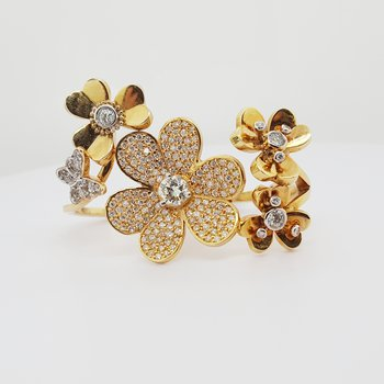 Floral Double Finger Ring