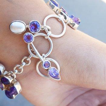 Watercolor Amethyst Bracelet