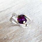 Arizona Amethyst™ Gold Jewelry Intertwined Ring