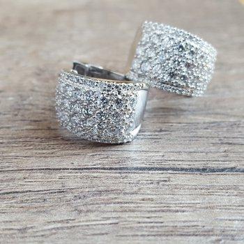Diamond Cuff Earrings