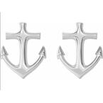 Sami Fine Jewelry Anchor Stud Earrings