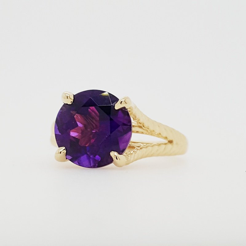 Arizona Amethyst™ Gold Jewelry Twisted Ring