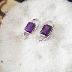 Arizona Amethyst™ Gold Jewelry Radiant Amethyst Earrings