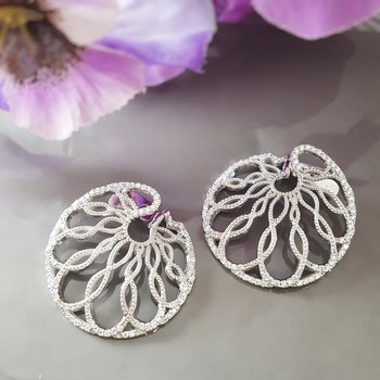 Organic Circle Diamond Earrings