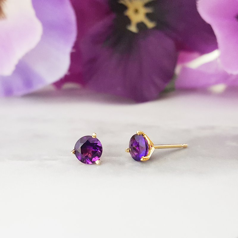Arizona Amethyst™ Gold Jewelry Essential 1CT Round Earrings