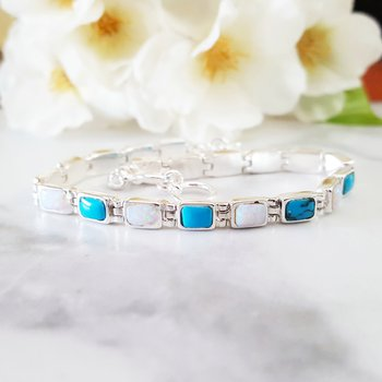Rectangle Link Bracelet