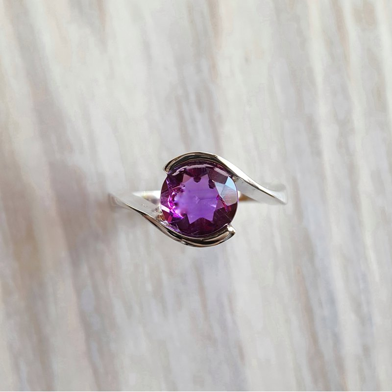 Arizona Amethyst™ Silver Jewelry Yin Yang Ring