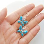 Arizona Turquoise and Inlaid Jewelry Butterfly Earrings