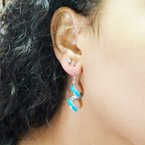 Arizona Turquoise and Inlaid Jewelry Spiral Dangle Earrings