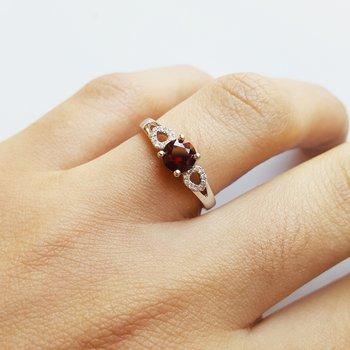 Garnet Accented Ring