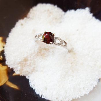 Garnet Accented Ring