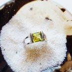 Arizona Peridot Silver Jewelry Open Band Ring