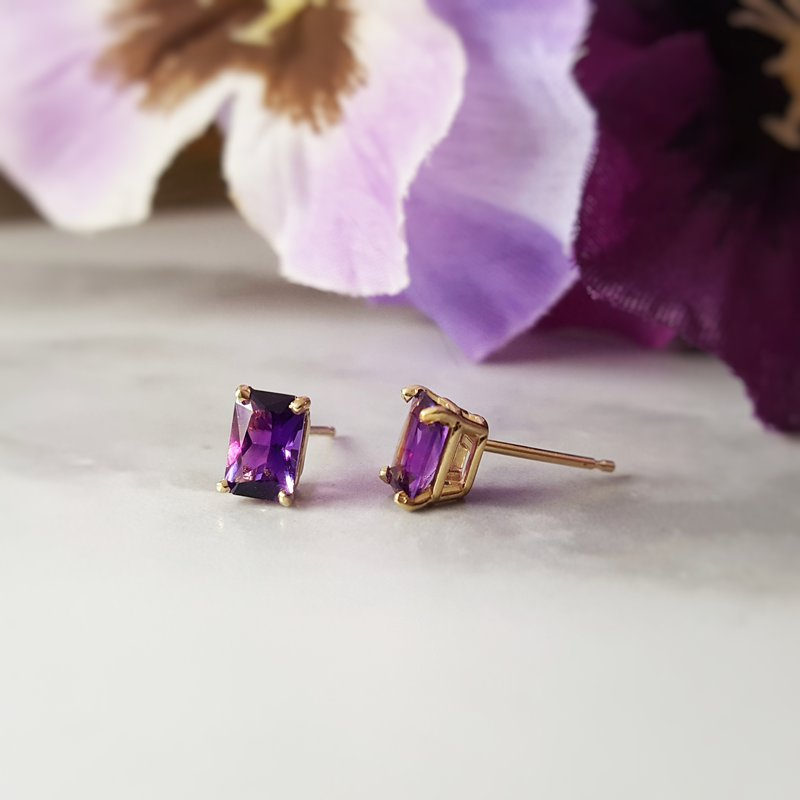 Arizona Amethyst™ Gold Jewelry Essential 1CT Radiant Earrings