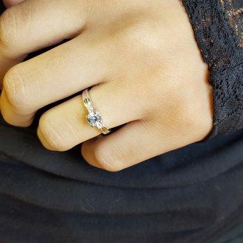 Aquamarine Petite Ring