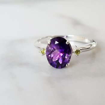 Arizona Amethyst Accented Ring