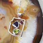 Arizona Amethyst™ Gold Jewelry Arizona State Pendant