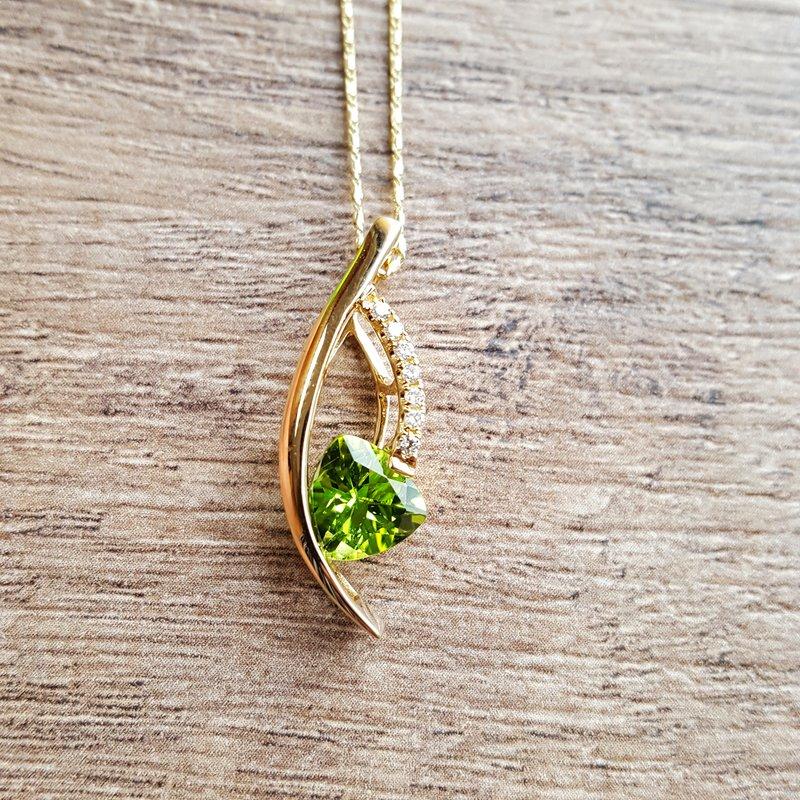 Arizona Peridot Silver Jewelry Cascade Pendant