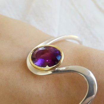 Arizona Amethyst Cuff Bracelet