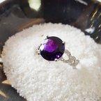Arizona Amethyst™ Gold Jewelry Round Arizona Amethyst Ring